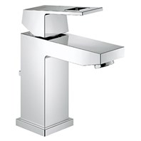 Grohe Eurocube Lavatory Single-hole Centerset S-Size with Pop-up Waste - Starlight Chrome GRO 23129000