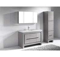 "Madeli Vicenza 48"" Bathroom Vanity For X-Stone - Ash Grey B999-48C-001-AG-XSTONE"