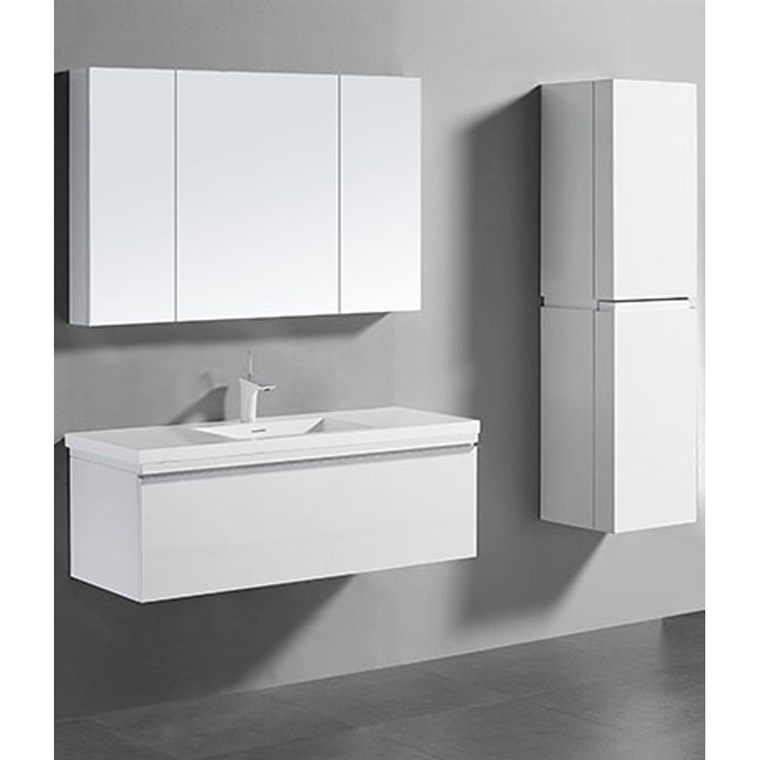 "Madeli Venasca 48"" Bathroom Vanity for Integrated Basin - Glossy White B990-48C-002-GW"