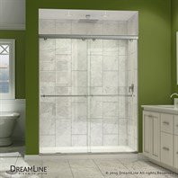 "Bath Authority DreamLine Charisma Frameless Bypass Sliding Shower Door and SlimLine Single Threshold Shower Base (30"" by 60"") DL-6940"
