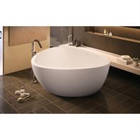 Aquatica Trinity-M-Wht Freestanding Light Weight Stone Bathtub - Matte White Aquatica Trinity-M-Wht