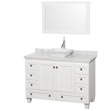 """Acclaim 48"""" Single Bathroom Vanity for Vessel Sink by Wyndham Collection, White WC-CG8000-48-SGL-VAN-WHT by Wyndham Collection®"""