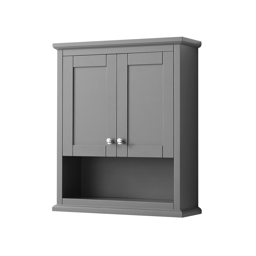 Avery Over-Toilet Wall Cabinet by Wyndham Collection - Dark Gray WC-2323-WC-DKG