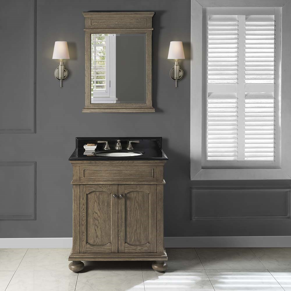 "Fairmont Designs Oakhurst 30"" Vanity for Undermount Oval - Antique Grey 1535-V30_"