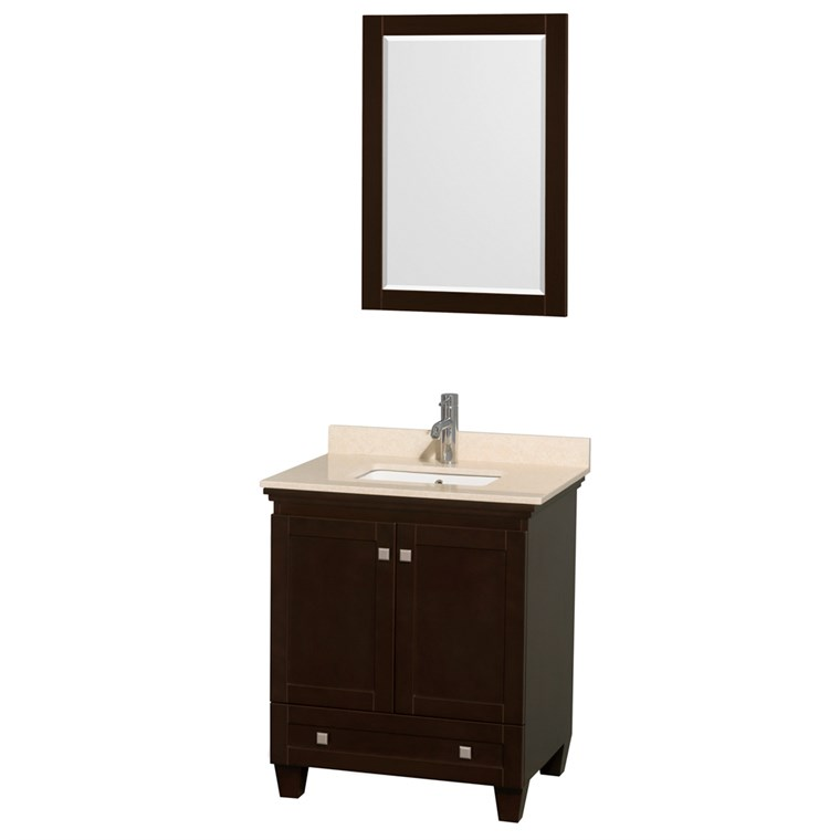 Acclaim 30 in. Single Bathroom Vanity by Wyndham Collection - Espresso WC-CG8000-30-SGL-VAN-ESP