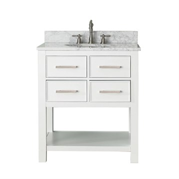 """Avanity Brooks 30"""" Single Bathroom Vanity with Countertop, White BROOKS-30-WT by Avanity"""