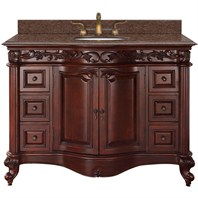 "Eleanor 48"" Single Bathroom Vanity by Wyndham Collection - Cherry WC-9016-48-CH"