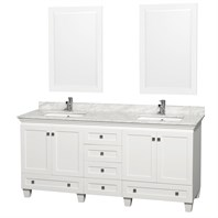 "Acclaim 72"" Double Bathroom Vanity by Wyndham Collection - White WC-CG8000-72-WHT"