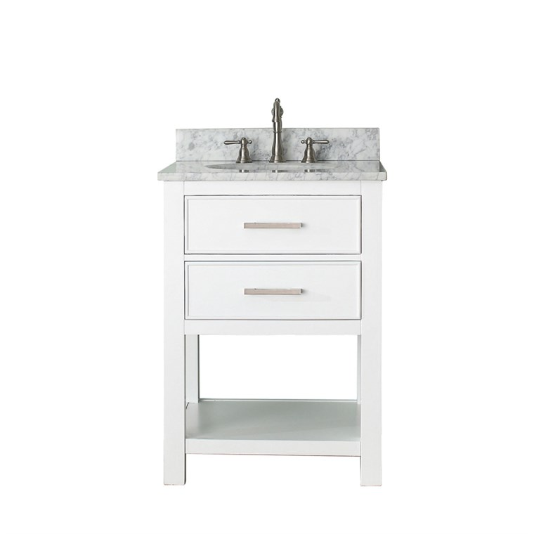 "Avanity Brooks 24"" Single Bathroom Vanity with Countertop - White BROOKS-24-WT"