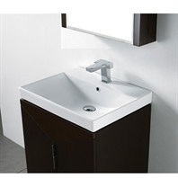 "Madeli Savona 24"" Bathroom Vanity with Integrated Basin - Walnut B925-24-001-WA"