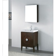 "Madeli Genova 24"" Bathroom Vanity with Integrated Basin - Walnut Genova-24-WA"