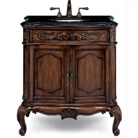 "Cole & Co. 30"" Premier Collection Medium Provence Vanity - Aged Chestnut"