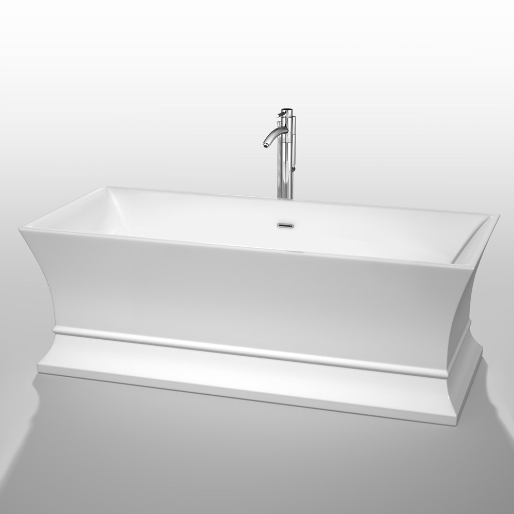 "Jamie 67"" Soaking Bathtub by Wyndham Collection - White WC-BTO851-67"