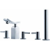 fluid Emperor Roman Tub Set w/ Handshower F1415