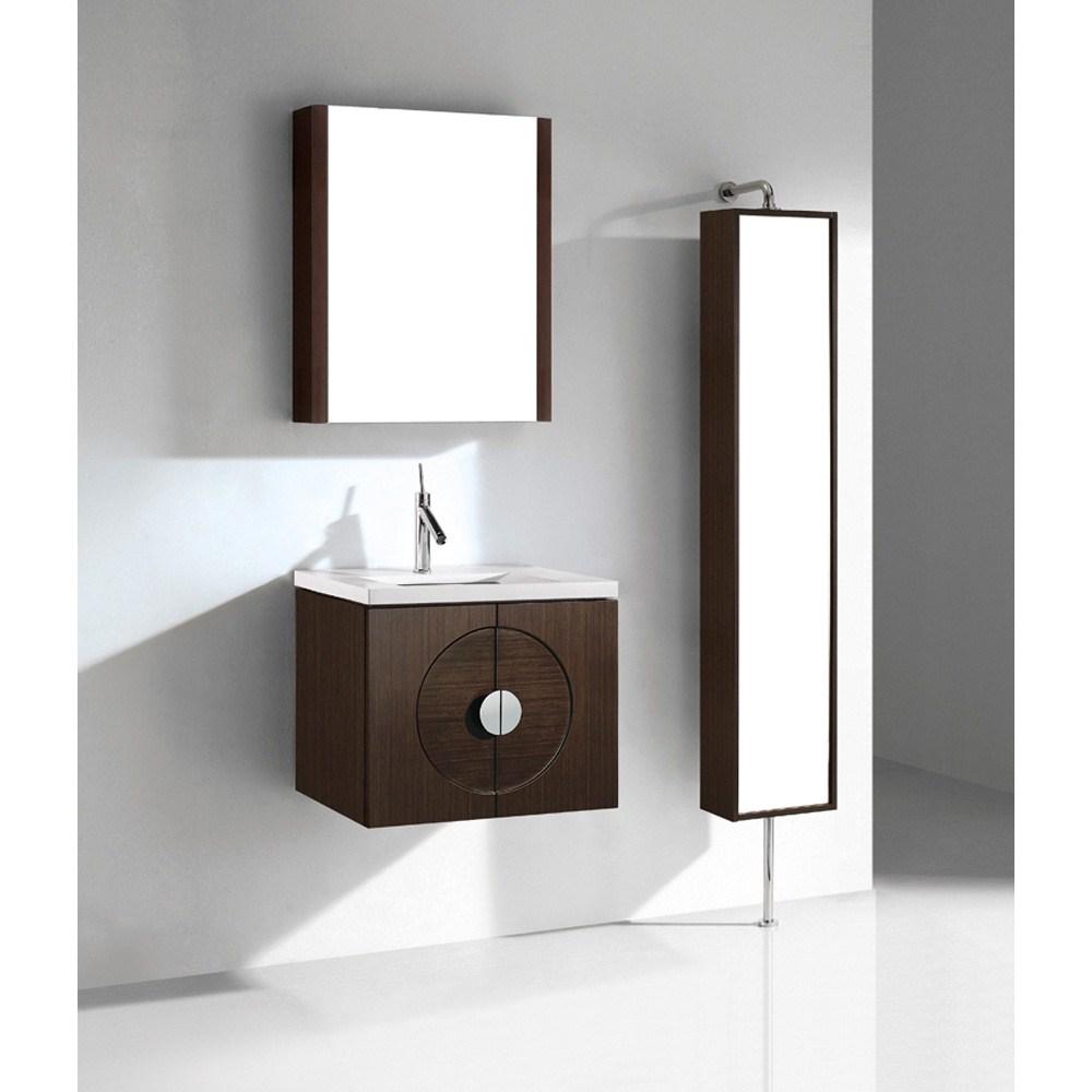 "Madeli Palermo 24"" Bathroom Vanity with Quartzstone Top - Walnutnohtin"