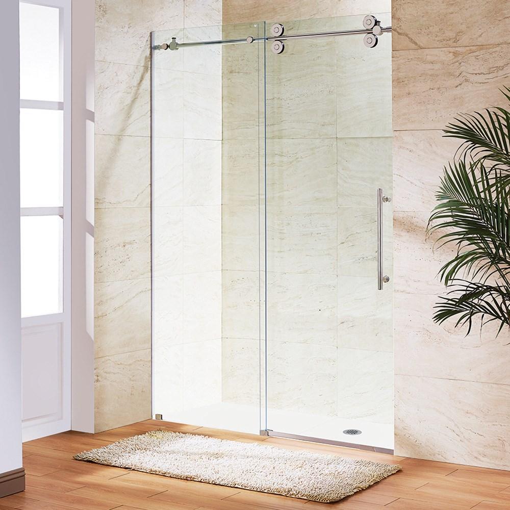 """Vigo Industries Frameless Adjustable Shower Door (68"""" - 71 9/16"""")nohtin Sale $1723.99 SKU: VG6041-72 :"""