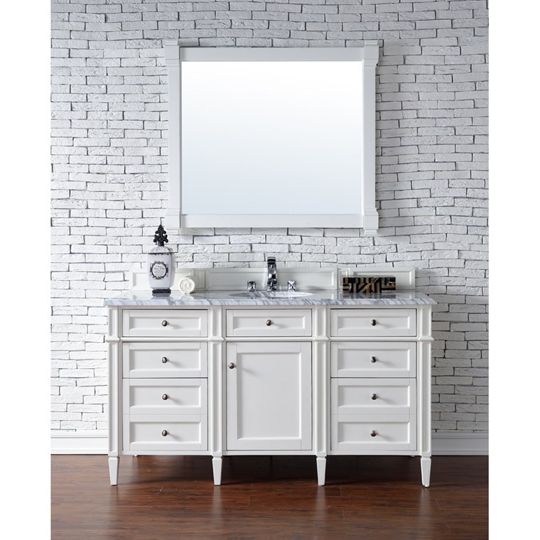 "James Martin 60"" Brittany Single Vanity - Cottage White 650-V60S-CWH"