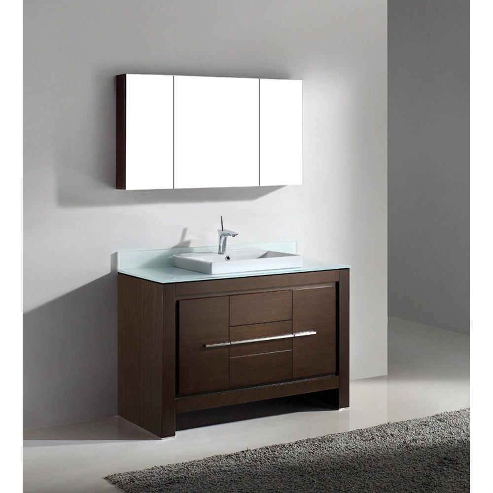 "Madeli Vicenza 48"" Bathroom Vanity - Walnutnohtin"
