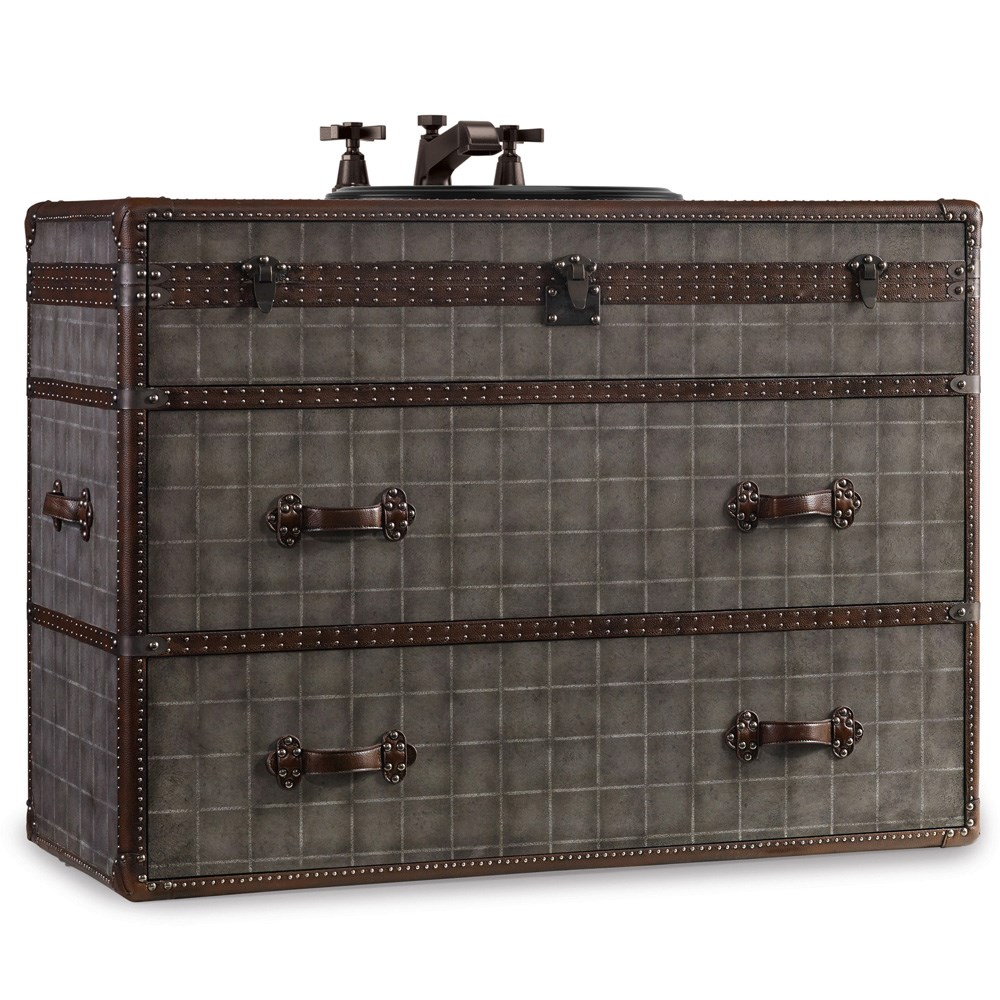 "Cole & Co. 46"" Designer Series Sutherland Travel Chest - Weathered Grey"