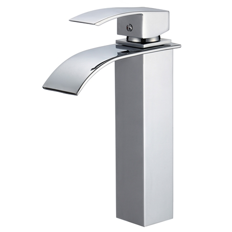 Piatti Tall Contemporary Single Hole Bathroom Faucet | Free Shipping   Modern  Bathroom