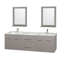 "Centra 72"" Double Bathroom Vanity for Undermount Sinks by Wyndham Collection - Gray Oak WC-WHE009-72-DBL-VAN-GRO-"