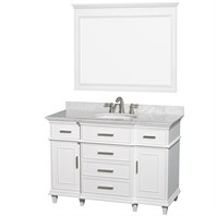 "Berkeley 48"" Single Bathroom Vanity by Wyndham Collection - White WC-1717-48-SGL-WHT"