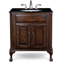 "Cole & Co. Custom Collection 31"" Classic/Estate Package, Bella Crema Top and Biscuit Sink - Antique Brown 12.11.275231.01PBC"