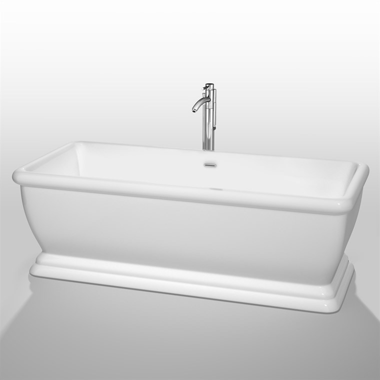 "Candace 68"" Soaking Bathtub by Wyndham Collection - White WC-BTO853-68"