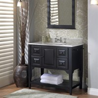 "Fairmont Designs 36"" Lifestyle Collection American Shaker Vanity - Distressed Black 168-V36BK"