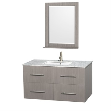 "Centra 42"" Single Bathroom Vanity for Undermount Sinks by Wyndham Collection, Gray Oak WC-WHE009-42-SGL-VAN-GRO- by Wyndham Collection®"