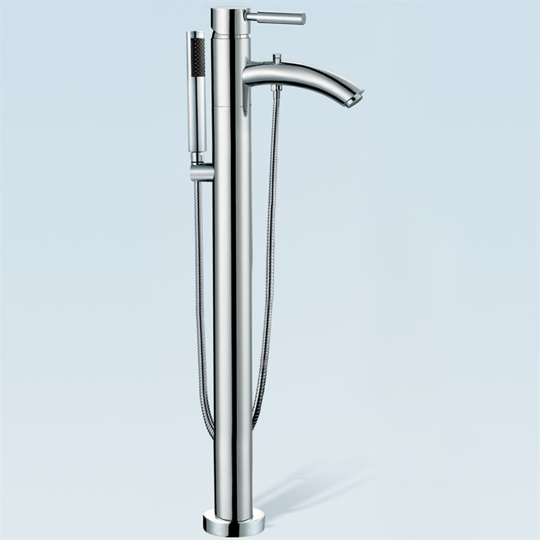 Taron Floor-Mounted Bathtub Faucet by Wyndham Collection WC-AT102340P11
