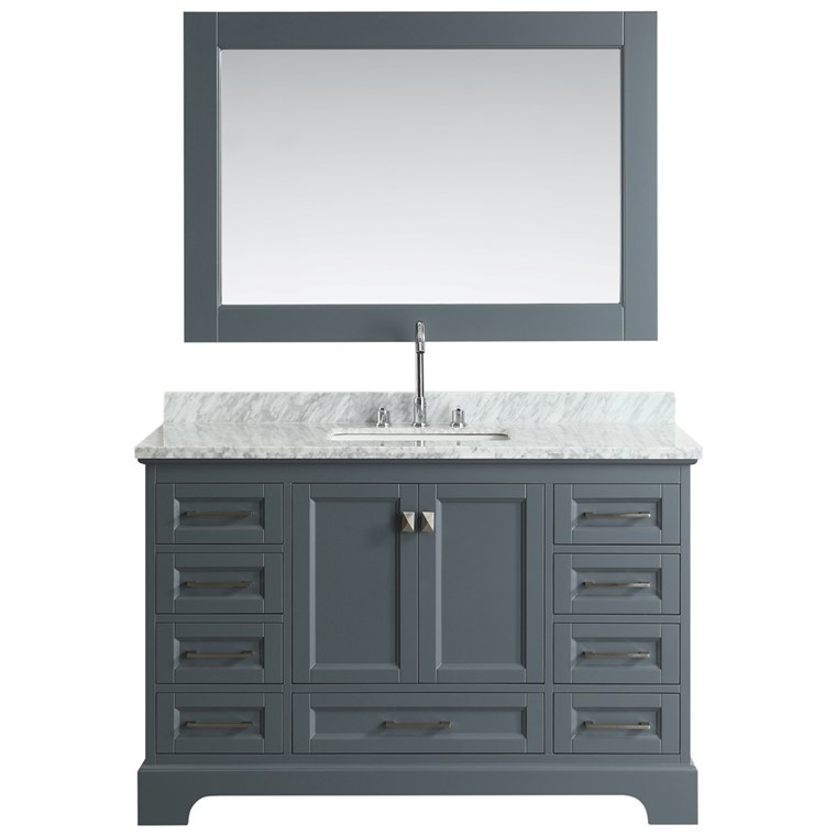 "Design Element Omega 54"" Single Sink Vanity - Gray DEC068D-G"