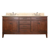 "Madison 73"" Double Bathroom Vanity Set - Tobacco"
