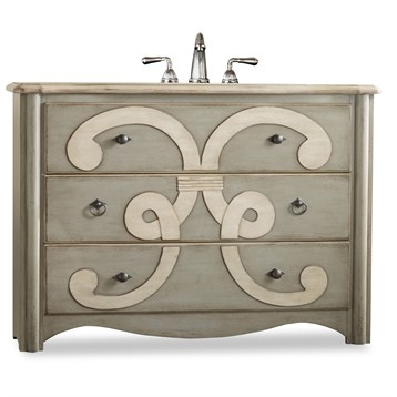 """Cole & Co. 48"""" Designer Series Collection Chamberlain Sink Chest, Parchment 11.22.275548.37 by Cole & Co."""
