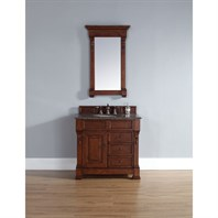 "James Martin 35"" Brookfield Single Vanity with drawers - Warm Cherry 147-114-5586"