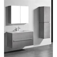 "Madeli Urban 42"" Bathroom Vanity for Quartzstone Top - Ash Grey B300-42-002-AG-QUARTZ"