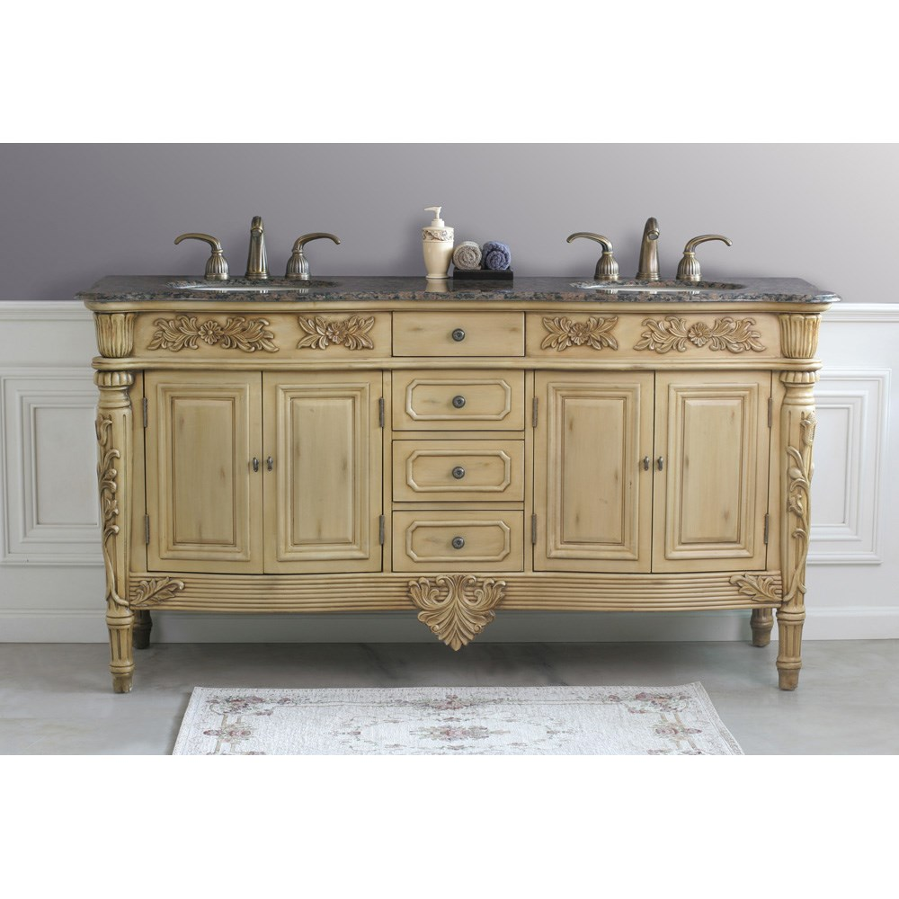 Virtu Usa Alexandria 67 Double Sink Bathroom Vanity Antique Ivory Free Shipping Modern Bathroom