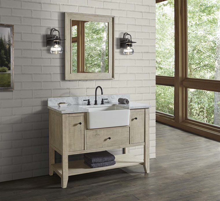 "Fairmont Designs River View 48"" Farmhouse Vanity - Toasted Almond 1515-FV48"