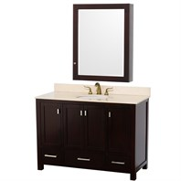 "Abingdon 48"" Single Bathroom Vanity by Wyndham Collection - Espresso WC-1515-48-ESP"