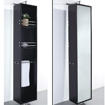 rotating storage cabinet espresso free shipping modern bathroom
