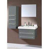 "Virtu USA Antonio 29"" Single Sink Bathroom Vanity - Gray UM-3081-C-GR"