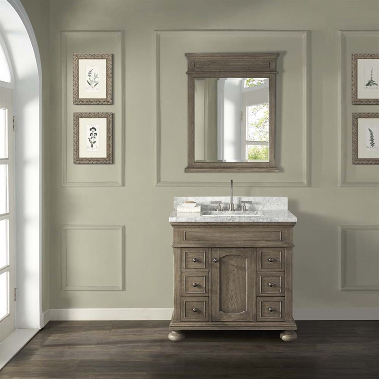 "Fairmont Designs Oakhurst 36"" Vanity - Antique Grey 1535-V36"