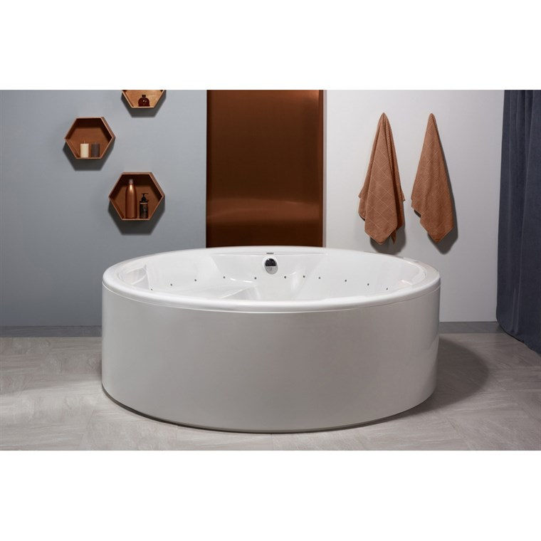 Aquatica Allegra-Wht Freestanding Relax Air Massage Bathtub - White Aquatica Allegra-FS-Rlx