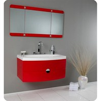 Fresca Energia Red Modern Bathroom Vanity with Three Panel Folding Mirror FVN5092RD
