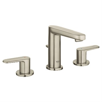 """Grohe Europlus 3-Hole Lavatory Wideset, 1/2"""" S-Size, Brushed Nickel GRO 20302EN0 by GROHE"""