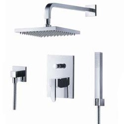fluid Penguin Pressure Balancing Shower Set w/ Handheld Trim Package F2041-T