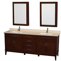 "Hatton 80"" Double Bathroom Vanity by Wyndham Collection - Dark Chestnut WC-1616-80-DBL-VAN-CDK"