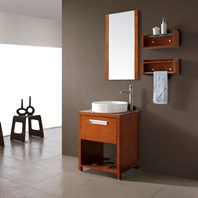 "Avanity Cosmo 24"" Single Bathroom Vanity with Cosmo Vessel Sink - Chestnut COSMO-VS24-CH"