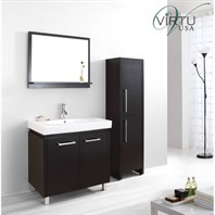 "Virtu USA Harmen 32"" Single Sink Bathroom Vanity Set - Espresso ES-1432-C-ES"