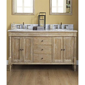 Fairmont Designs Rustic Chic 60 Vanity Double Bowl Weathered Oak Bathroom Double Vanity